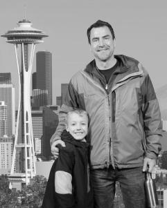 My youngest son, Alex, and me, in Seattle, Washington.  Yes, this picture was photo-shopped by the good people at the Space Needle!