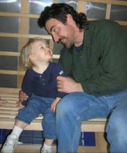 Patrick and Youngest Son, Alex, when the Lad was a Tad Younger